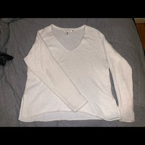 CREAM/WHITE H&M SWEATER